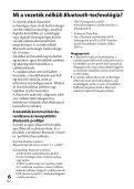 Sony DR-BT101 - DR-BT101 Consignes d'utilisation Hongrois - Page 6