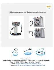 Katalog Übersicht Minimalmengenschmiersysteme
