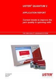 QUANTUM 2 APPLICATION REPORT Current ... - Uster Technologies