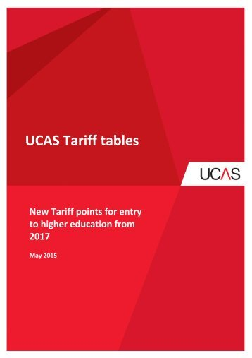 UCAS Tariff tables