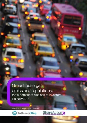 Greenhouse gas emissions regulations
