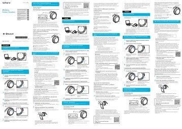 Sony MDR-AS700BT - MDR-AS700BT Guide de mise en route Portugais