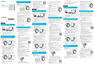 Sony MDR-AS700BT - MDR-AS700BT Guide de mise en route Slovaque