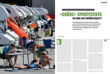 «Grüne» Sportevents - Fit for Life