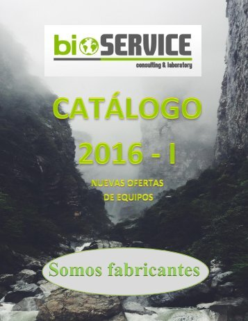 CATALOGO 2016-II Bioservice CLAB