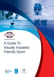 A Guide To Visually Impaired Friendly Sport