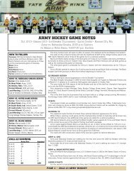 ARMY HOCKEY GAME NOTES - Community - CBS Sports Network