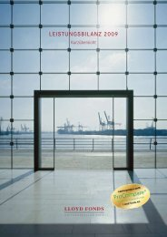 Lloyd Fonds AG Leistungsbilanz 2009 (Kurzversion)
