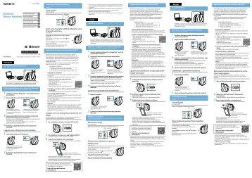 Sony DR-BTN200 - DR-BTN200 Guide de mise en route Polonais