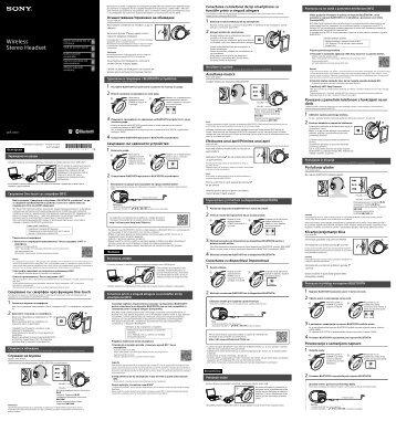 Sony MDR-10RBT - MDR-10RBT Guide de mise en route Slovénien