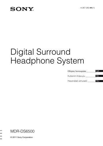 Sony MDR-DS6500 - MDR-DS6500 Consignes d'utilisation Hongrois