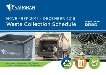 Waste Collection Schedule