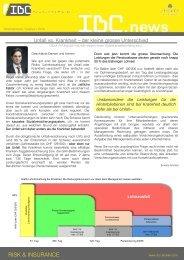 Special Unfall vs. Krankheit & Captive 2010 Newsletter - IBC