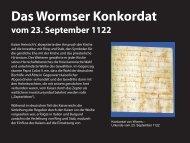 Das Wormser Konkordat vom 23. September 1122