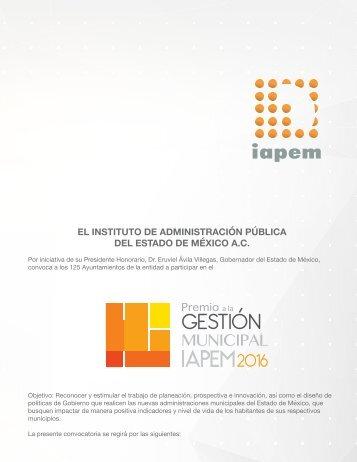 EL INSTITUTO DE ADMINISTRACIÓN PÚBLICA DEL ESTADO DE MÉXICO A.C