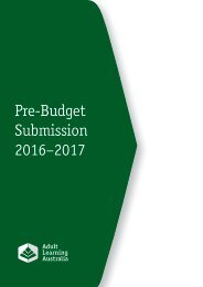Pre-Budget Submission 2016–2017