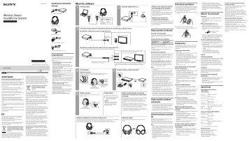 Sony MDR-HW300K - MDR-HW300K Mode d'emploi Roumain