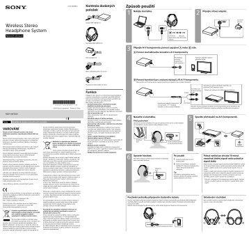 Sony MDR-HW300K - MDR-HW300K Mode d'emploi Tchèque