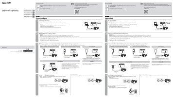Sony MDR-1ADAC - MDR-1ADAC Guide de mise en route Tchèque