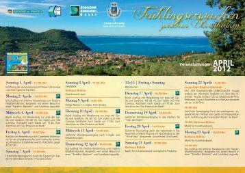 Veranstaltungen APRIL 2012 - Eventi
