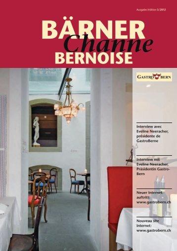 BärnerChanne Oktober 2012 - GastroBern