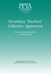 Secondary Teachers' Collective Agreement