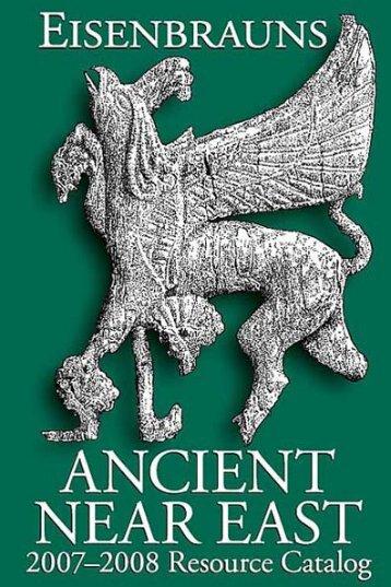Ancient Near East Resource Catalog (2007–2008) - Eisenbrauns
