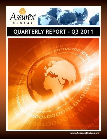 QUARTERLY REPORT - Q3 2011 - IBC