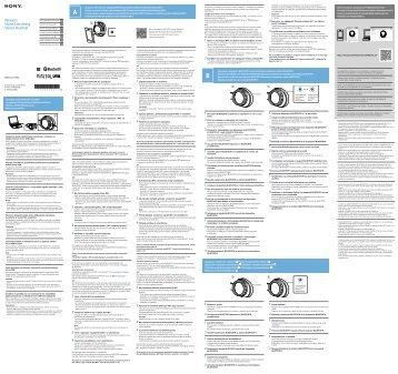 Sony MDR-ZX770BN - MDR-ZX770BN Guide de mise en route Tchèque