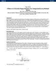 155-30: A Macro to Calculate Kappa Statistics for ... - SAS