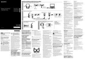 Sony MDR-1RNC - MDR-1RNC Consignes d'utilisation Tchèque