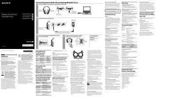 Sony MDR-1RNC - MDR-1RNC Consignes d'utilisation Néerlandais