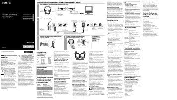 Sony MDR-1RNC - MDR-1RNC Consignes d'utilisation Allemand