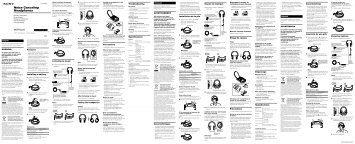 Sony MDR-NC60 - MDR-NC60 Consignes d'utilisation