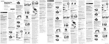 Sony MDR-NC60 - MDR-NC60 Consignes d'utilisation Russe