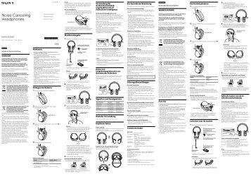 Sony MDR-NC200D - MDR-NC200D Consignes d'utilisation Italien