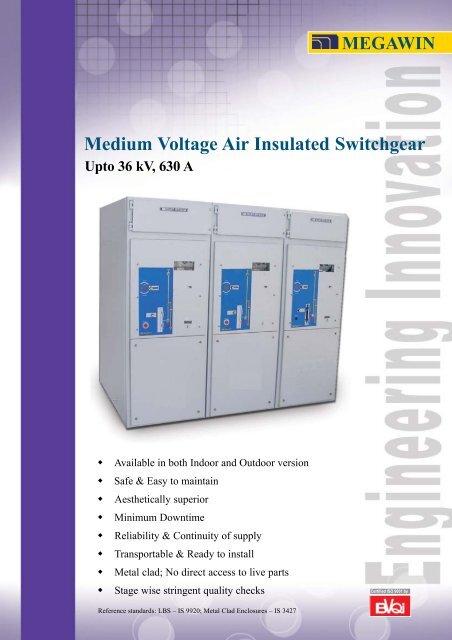 Medium Voltage Air Insulated Switchgear Upto 36 kV
