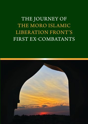 The journey of the Moro Islamic Liberation Front's first ex-combatants