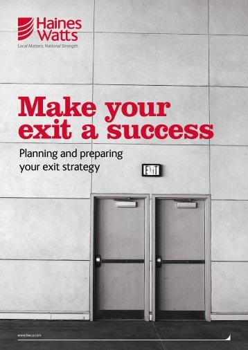 Make your exit a success
