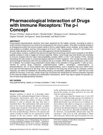 Pharmacological Interaction of Drugs with Immune Receptors