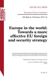 Europe in the world Towards a more effective EU foreign and security strategy