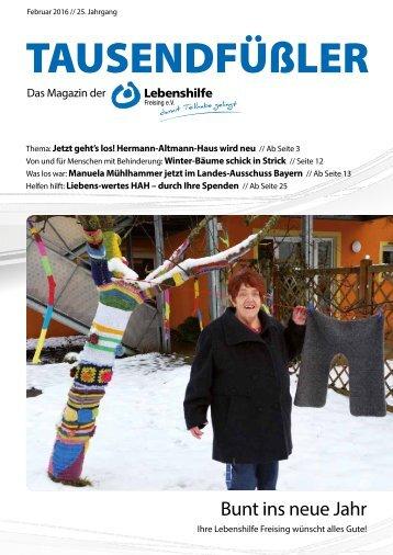 2016 Februar / Lebenshilfe Freising / Tausendfüßler-Magazin