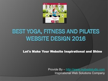 Best Yoga, Fitness and Pilates Website Design Theme 2016