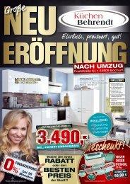 Küchen Behrendt Eröffnungsprospekt