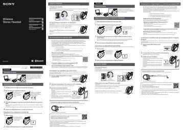 Sony MDR-1RBT - MDR-1RBT Guide de mise en route Russe