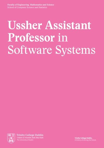 Ussher Assistant Professor in Software Systems