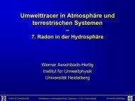 Radon im Grundwasser - Institut für Umweltphysik - Universität ...