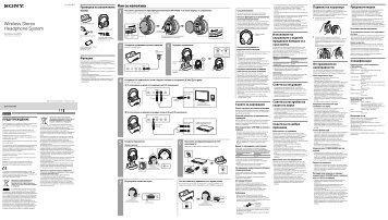 Sony MDR-RF855RK - MDR-RF855RK Consignes d'utilisation Roumain