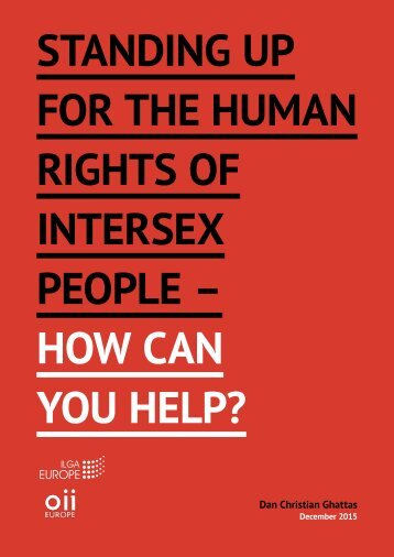 STANDING UP FOR THE HUMAN RIGHTS OF INTERSEX PEOPLE – HOW CAN YOU HELP?