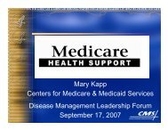 Mary Kapp enters for Medicare & Medicaid Services Disease ...